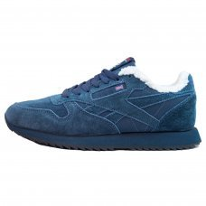 Зимние Reebok Classic All Dark Blue With Fur