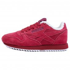 Зимние Reebok Classic Burgundy With Fur