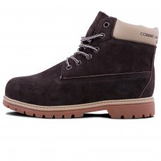 Женские Timberland 10061 Dark Brown With Fur