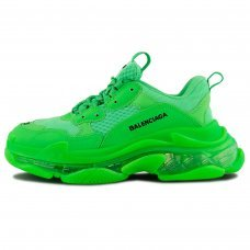 Фотография 1 Женские Balenciaga Triple S Fluorescent Green
