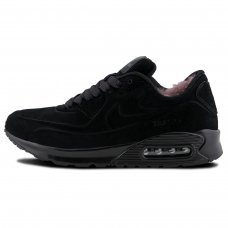 Зимние Nike Air Max 90 VT All Black With Fur