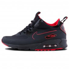 Мужские Nike Air Max 90 Mid Winter Black/Red