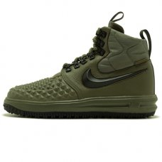 Зимние Nike Lunar Force 1 Duckboot Green With Fur