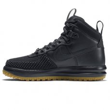 Зимние Nike Lunar Force 1 Duckboot Black With Fur