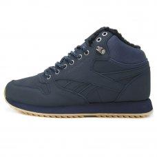 Фотография 1 Зимние Reebok Classic Leather Mid Blue With Fur