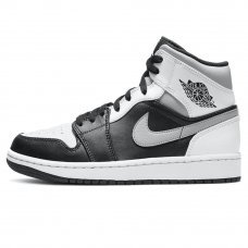 Унисекс Nike Air Jordan 1 Mid White/Black/Gray