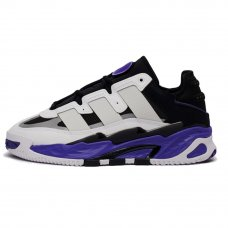 Унисекс Adidas Niteball White/Black/Purple