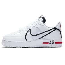 Фотография 1 Мужские Nike Air Force 1 React White/Black/University Red