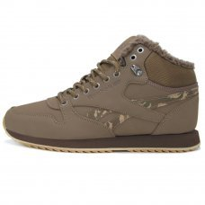 Зимние Reebok Classic Leather Mid Brown With Fur