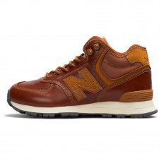 Зимние New Balance 574 High Brown/Russet With Fur