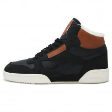 Зимние Reebok Classic Exertion Mid Black/Brown/White With Fur