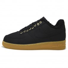 Фотография 1 Зимние Nike Air Force 1 Low Black/Brown With Fur