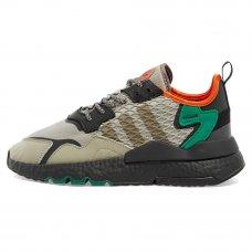 Мужские Adidas Nite Jogger Sesame Core Black Bold Green