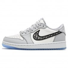 Унисекс Nike Air Jordan 1 Low Dior Grey/White