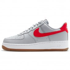 Мужские Nike Air Force 1 Grey/University Red