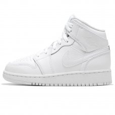Женские Nike Air Jordan 1 Mid Triple White