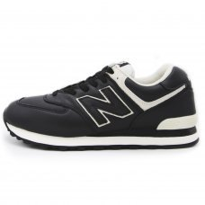 Фотография 1 Унисекс New Balance 574 Black White Leather