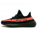 Унисекс Adidas Yeezy Boost Sply 350 V2 Black Solar Red