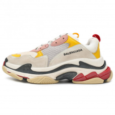 Фотография 1 Женские Balenciaga Triple S Cream Yellow Red