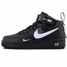 Фотография 1 Зимние Nike Air Force 1 Mid  07 LV8 Black With Fur