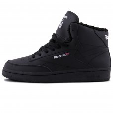 Зимние Reebok Classic High Black With Fur