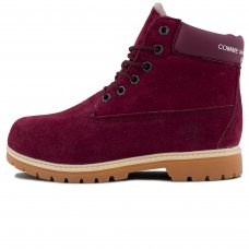 Женские Timberland 10061 Burgundy With Fur