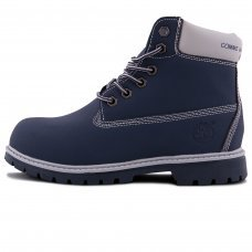 Женские Timberland 10061 Blue/White With Fur