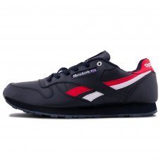 Зимние Reebok Classic Black/Red/White With Fur