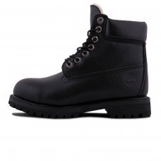 Женские Timberland 10061 Leather All Black With Fur