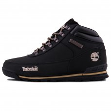Мужские Timberland Earthkeepers Euro Rock Hiker All Black With Fur
