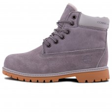 Женские Timberland 10061 Light Grey With Fur