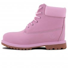 Женские Timberland 10061 Bright Pink With Fur