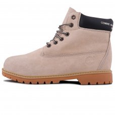 Женские Timberland 10061 Beige/Black With Fur