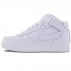 Зимние Nike Air Force 1 Mid All White With Fur