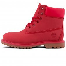 Женские Timberland 10061 Bright Red With Fur