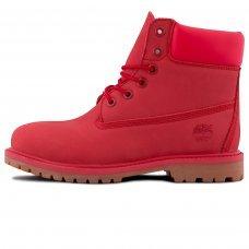 Женские Timberland 10061 Bright Red With Fur