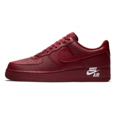 Унисекс Nike Air Force 1 Low Leather Team Burgundy