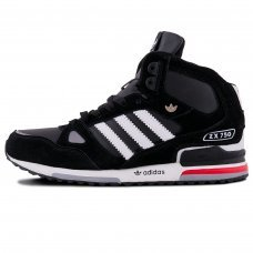 Зимние Adidas ZX 750 Black/White With Fur