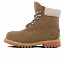 Женские Timberland 10061 Light Brown With Fur