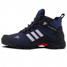 Зимние Adidas Terrex Climaproof High Blue/Black With Fur