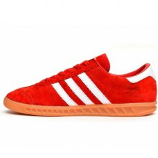 Унисекс Adidas Hamburg Suede Red/White