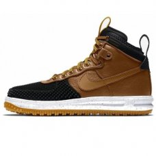Зимние Nike Lunar Force 1 Duckboot Black Wood/White With Fur